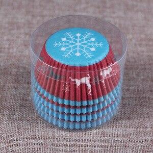 Image 4 - 100PCS 머핀 종이 컵케잌 래퍼 베이킹 컵 케이스 머핀 상자 케이크 컵 장식 도구 주방 케이크 도구