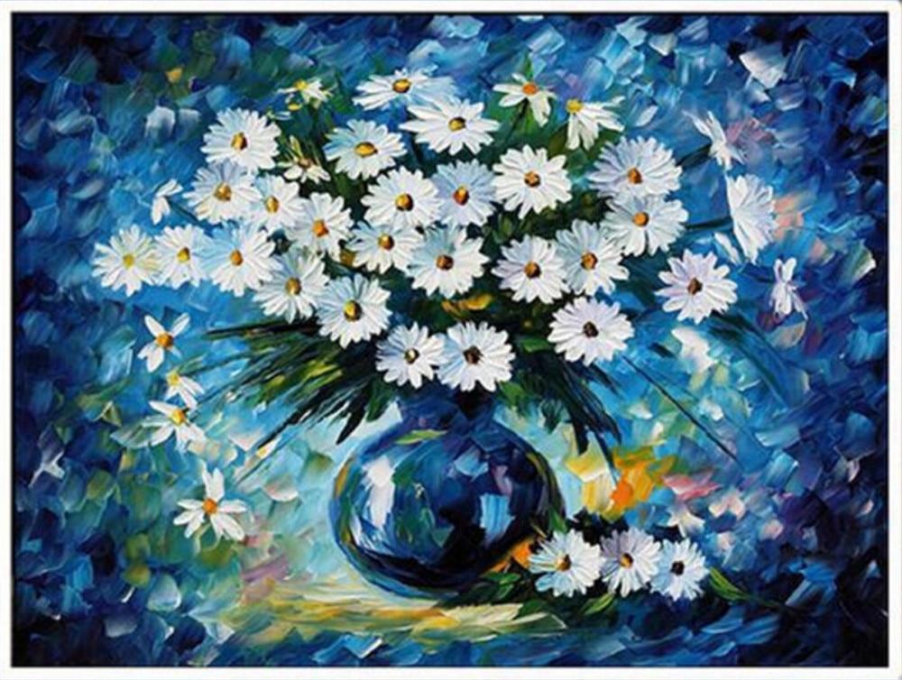 B036 Pintura diamante azul, pintura diamante cuadrado, bricolaje - Artes, artesanía y costura