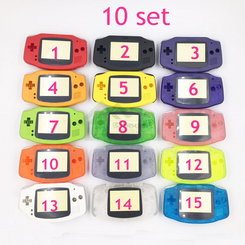 10 set E house Full Housing Shell Case Cover Replacement for Nintendo GBA Shell for Gameboy
