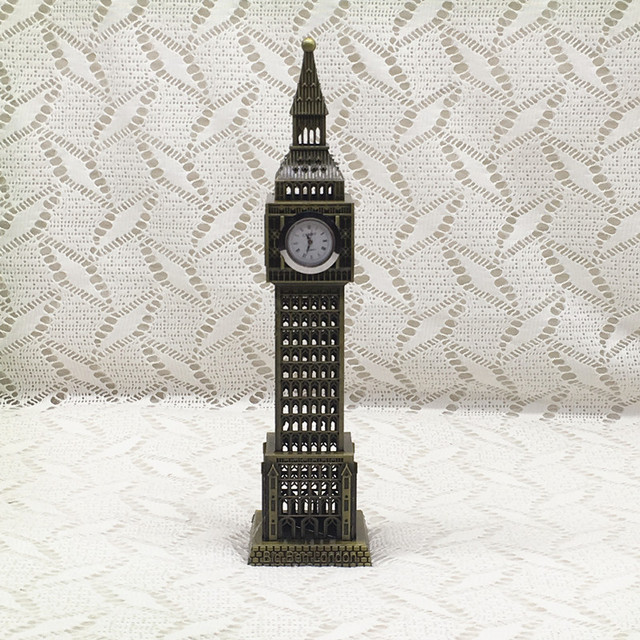 Creative Birthday Gifts Antique Bronze Tourism City Souvenir Architectural Model Desk Decoration London Big Ben With