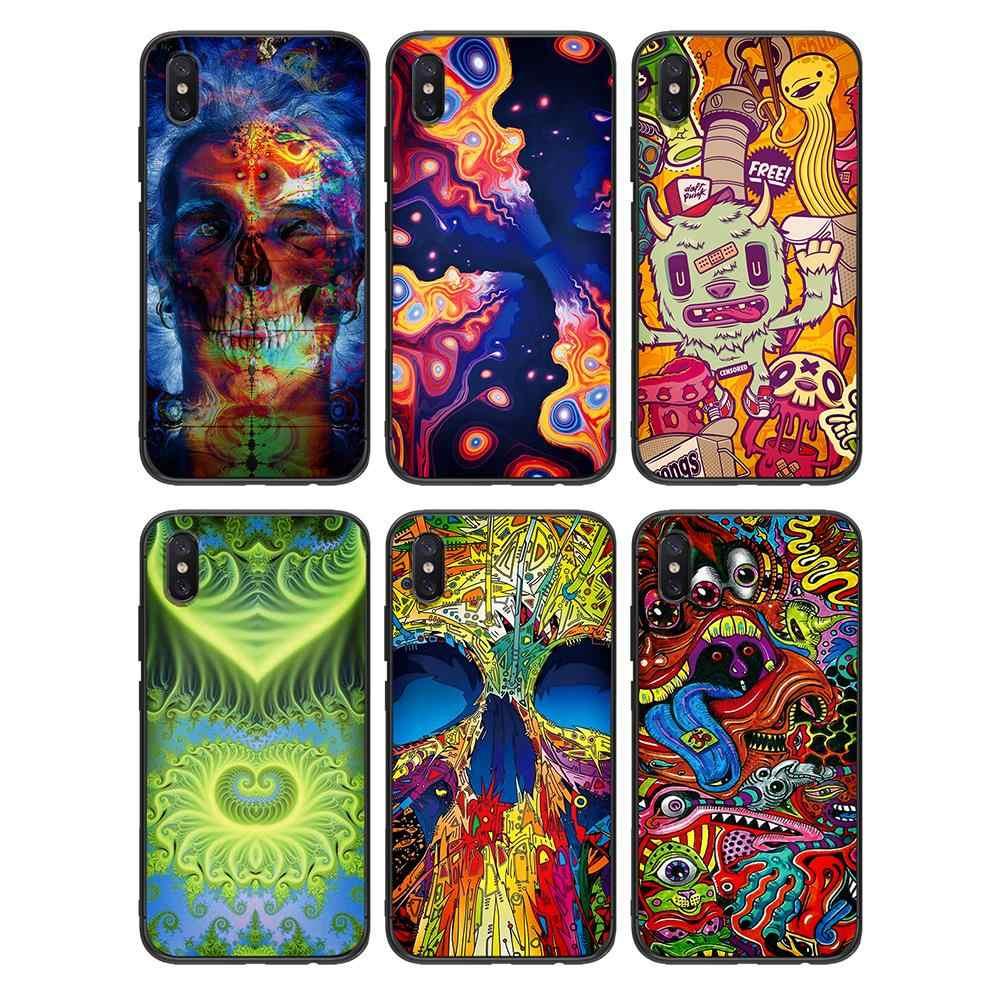 Tpu macio da arte psychedelic para xiaomi redmi mi6 8 9 a1 a2 f1 plus caso redmi 5/5 plus m8 lite silicone caso de volta