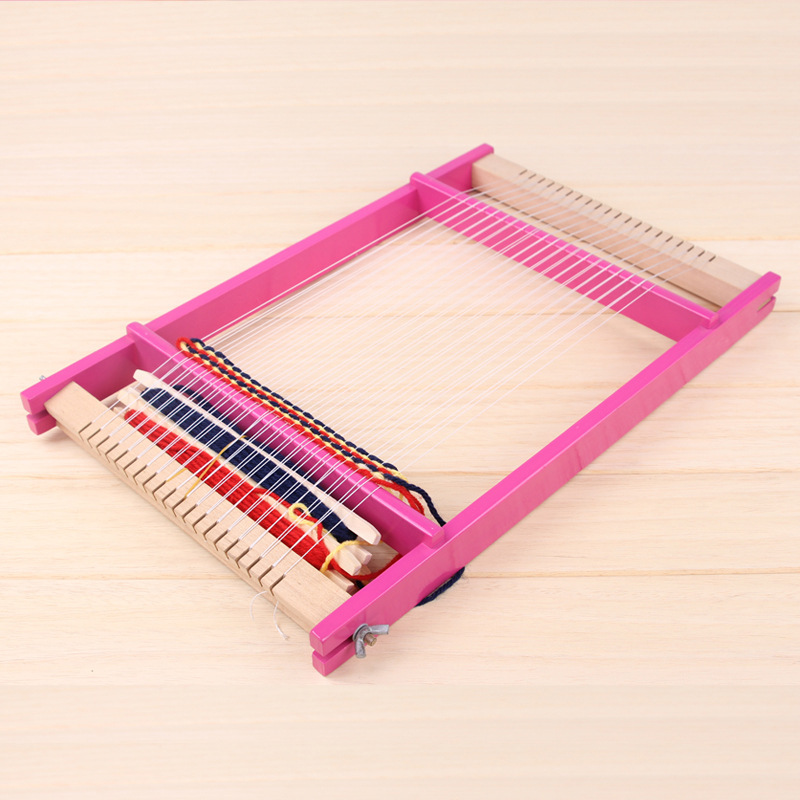 Free shipping Kids Classic Handmade DIY multifunctional girl creative weaving wood loom large wooden loom toys girl 39 s toys Gift in Beads Toys from Toys amp Hobbies