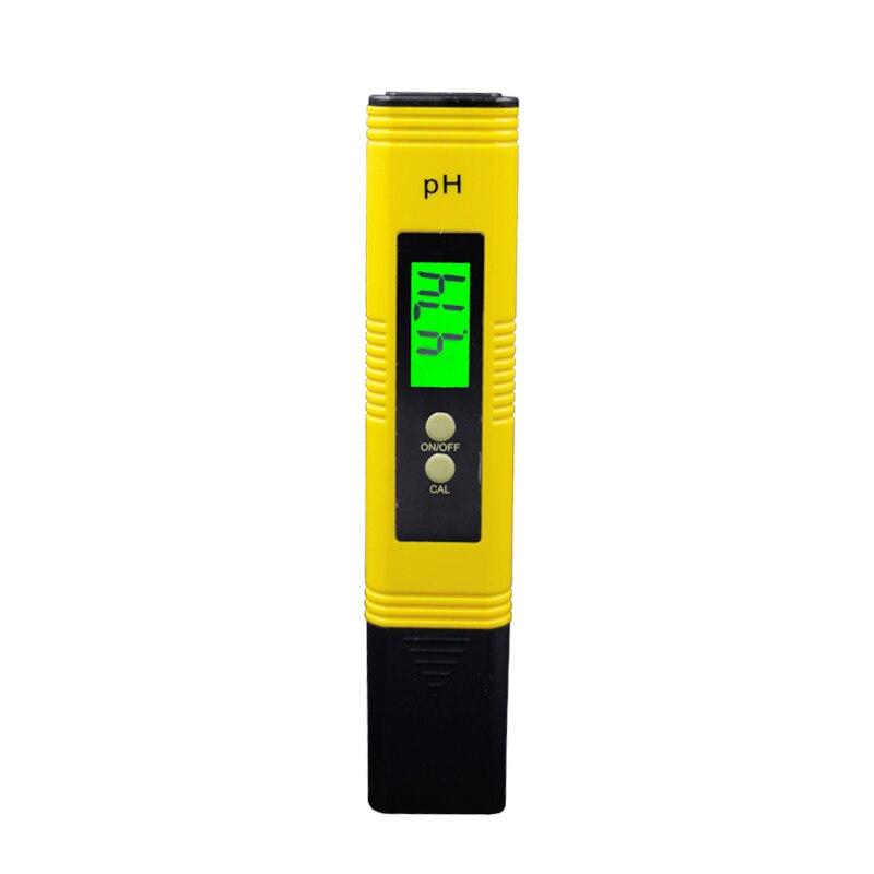 100pcs/lot by dhl/fedex Portable Digital PH Meter LCD backlight Pool Water Aquarium Hydroponic Wine Testers Tool 39%off