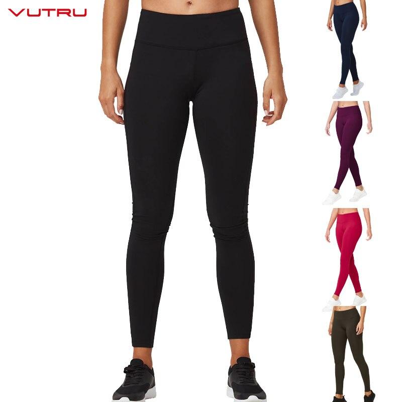 Vutru Frauen Yoga Hosen Sport Leggings Gym Compression Strumpfhosen Sportswear Fitness Schlank Hose Mit Tasche Ropa Deportiva Mujer
