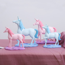MRZOOT Nordic Style For Creative Resin Crafts Gifts Ornaments Cute Unicorn Office Desk Display Home Decoration