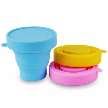 Retractable Silicone Folding Water Cup Food Grade Camping Hiking Cup Soft Drinking Mugs Outdoor Tableware Travel Accessories