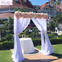 FENGRISE tela de tul de Organza transparente para decoración de fiesta de novia, telón de fondo, decoración rústica para boda, evento de fiesta, 5M, 10M