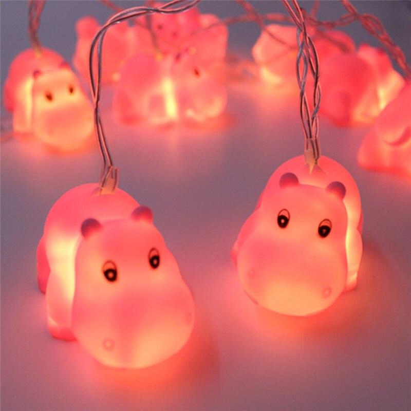 10 LED 1.8M Festival Lights String Animals Shark Shape indoor String Lighting Battery Powered Outdoor light Valentines Day Gift