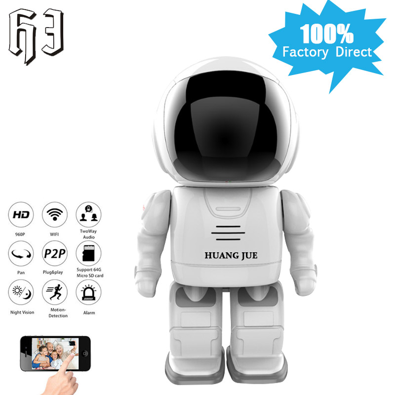 1.3MP IP Camera Smart Robot 960P HD WIFI Wireless PTZ Two Way Audio P2P Indoor Night Vision Wi-fi Network Baby Monitor Security wifi ip camera 960p hd ptz wireless security network surveillance camera wifi p2p ir night vision 2 way audio baby monitor onvif
