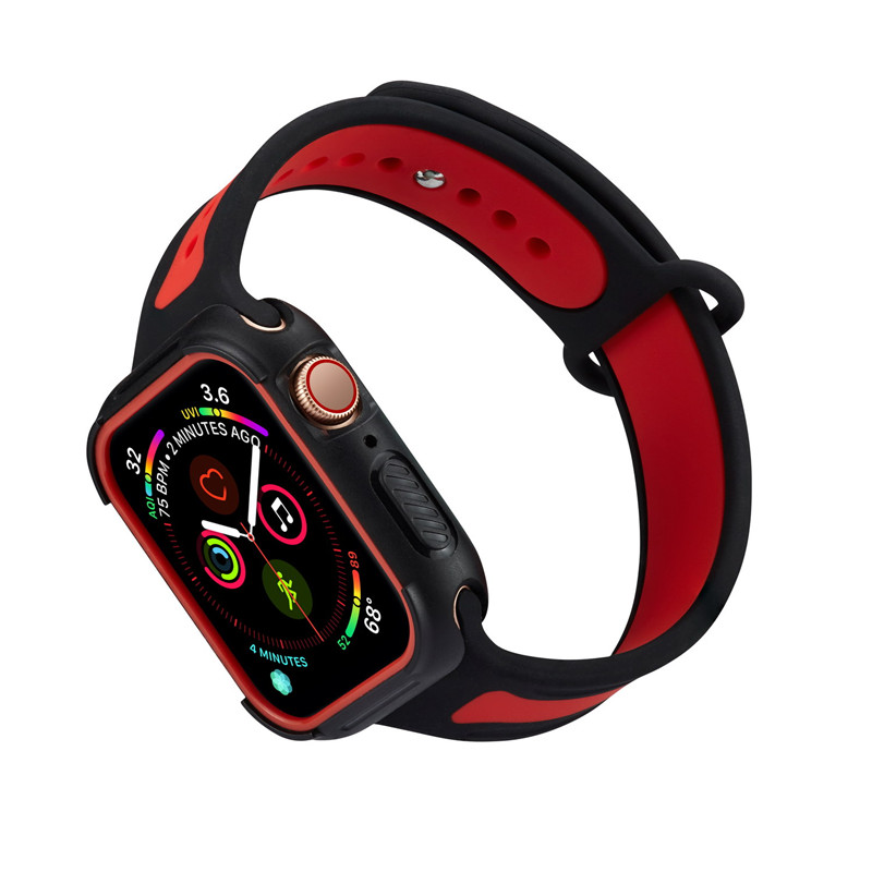 For Apple Watch Series 4 Sport Style Case PC Frame Casing Cover iWatch Cases 40mm 44mm For Watch Series 4 Protective Frame Shell купить в Москве 2019