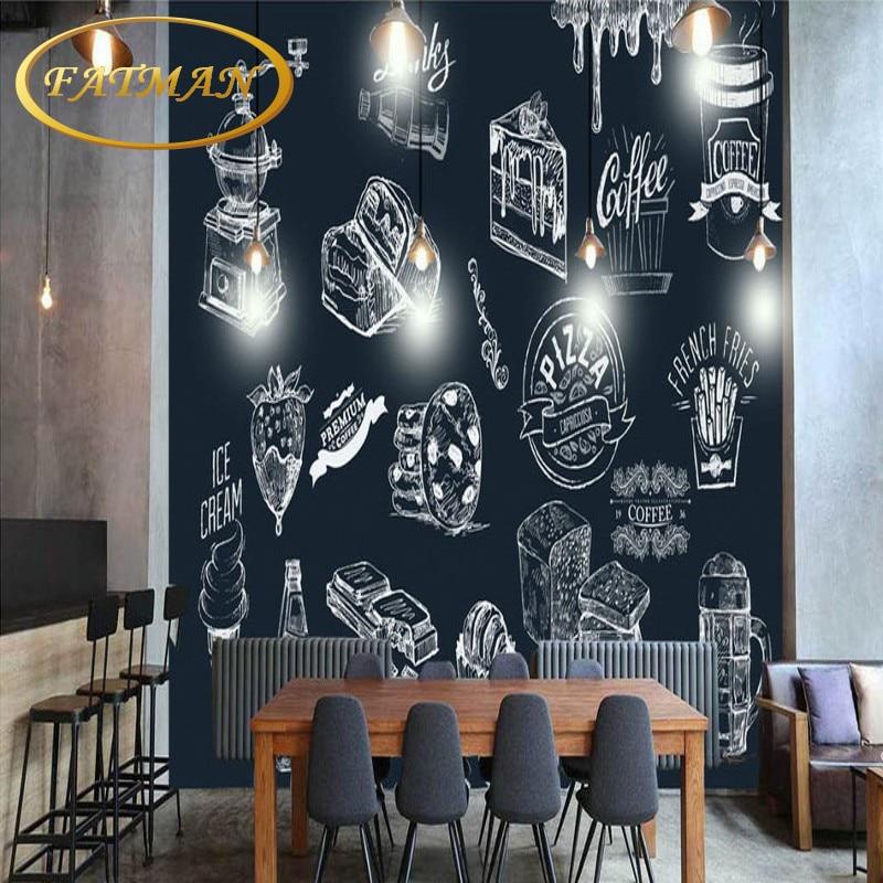 Blackboard Wallpaper Murals Food Wallpaper Murals Bistro: Photo Wallpaper Hand Painted Blackboard Painting Fast Food