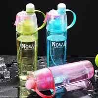 Botella de agua deportiva con espray de 400/600Ml para niños botellas de bebida de gira sin bpa para escalar al aire libre gimnasio taza rociar agua deportes