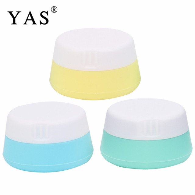 2af93e6d13da US $3.49 31% OFF|3Pc Refillable Cream Bottle Silicone Container Plastic  Empty Makeup Jar Pot Travel Face Cream/Lotion/Cosmetic Container-in  Refillable ...