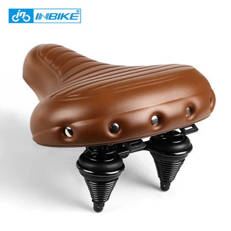 INBIKE Road Bike Saddle PU Leather Waterproof Bicycle Saddle Wide Anti-slip Black Bicycle Seat Saddle Soft Comfort Pad Bike Seat цены