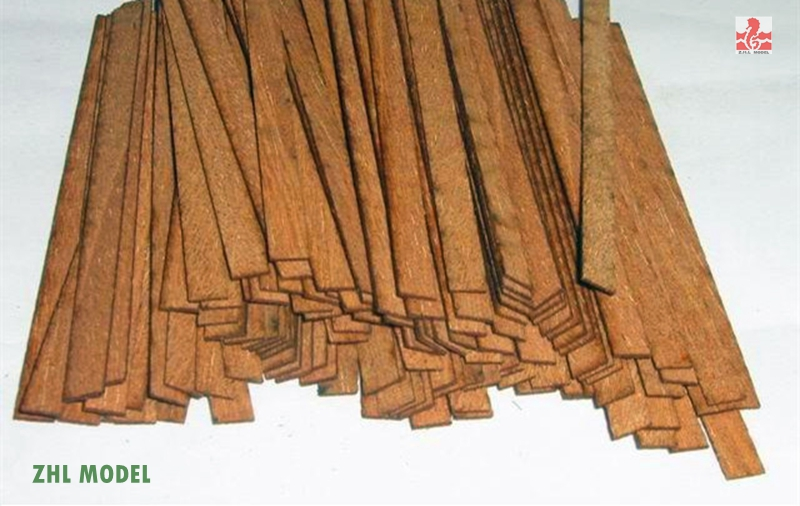 ZHL Cherry Wood Strips 50pieces Model Ship