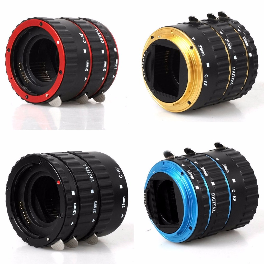 5 Color Tube Ring For Canon EOS 550D 1100D 1000D 5D3 650D 600D DSLR Camera AF Mount Auto Focus Macro Extension EF-S Lens Adapter new original lens bayonet mount ring repair for canon ef s 18 55mm f 3 5 5 6 is stm lens without cable