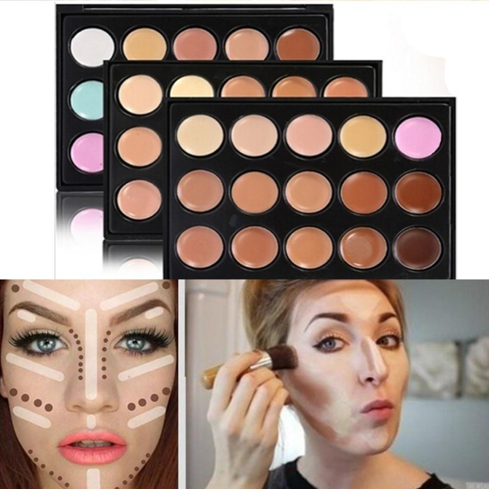 15 colors Professional concealer palettes makeup Cream Base Foundation Palettes Matte Face Contouring cosmetic Concealer palette image