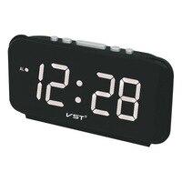 Free Shipping Digital LED Alarm Clock Electronic Clock Desktop AC Power EU Plug/US Plug Table Clock With 4 Colors Display