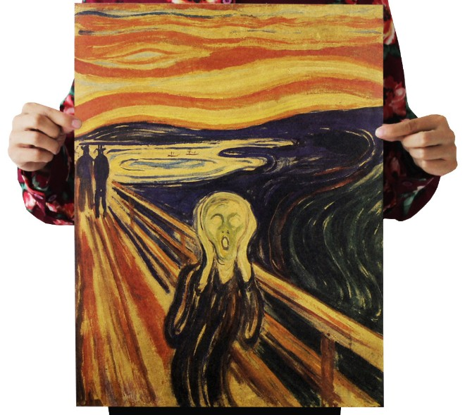 Edvard Munch Painting Scream Vintage Kraft Paper Movie Poster Map Home Decor  Art  Retro Posters And Prints Decorativos