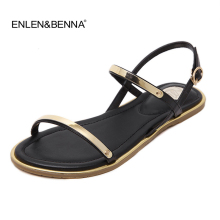 hot deal buy 2018 new arrival famous luxury brand womens shoes sandals t-strap ladies flat sandals shoes summer beach sandals flip flops