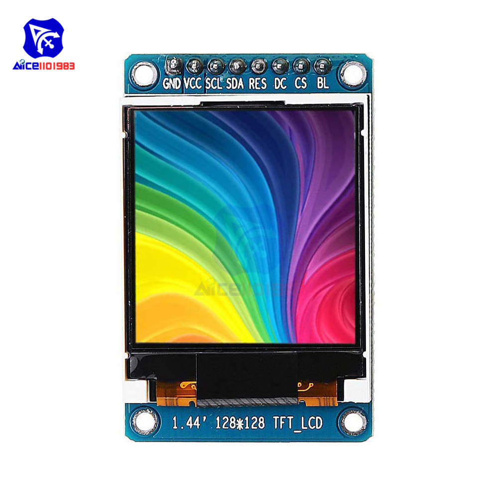1.44 Inch TFT LCD 65K Color 128x128 Display Screen SPI Serial Port Module ST7735 For 51 ARM Arduino