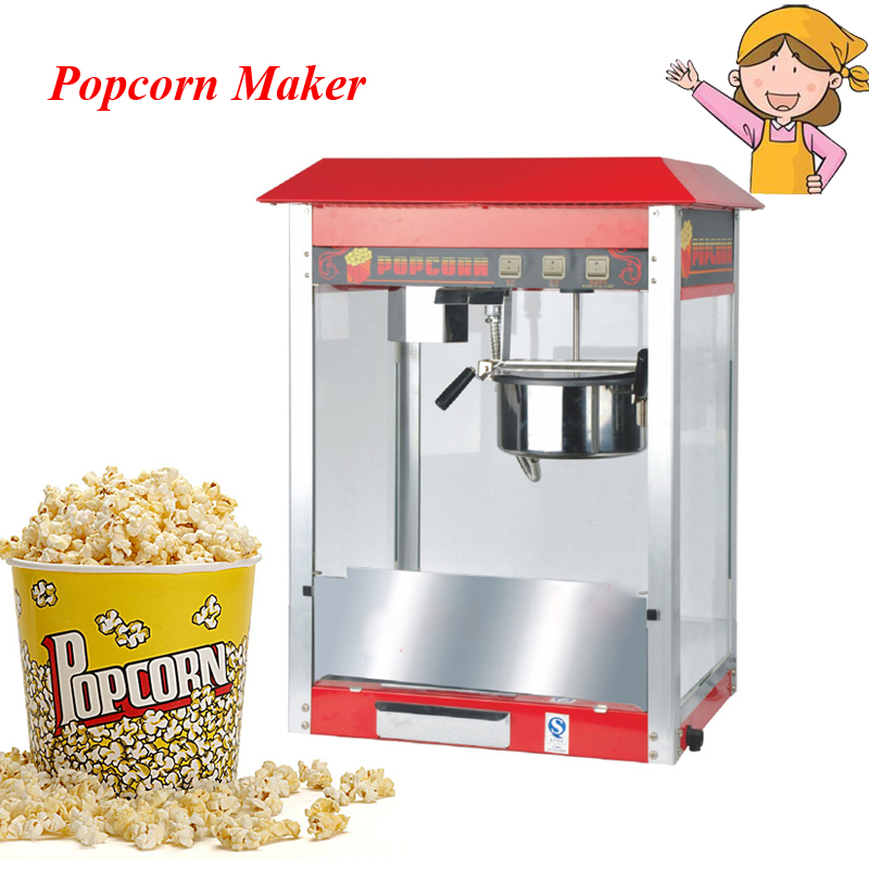 Classic Electric Popcorn Making Machine 220v Desktop Commercial Mini Popcorn Maker FY-06A 10oz stainless steel 110v 220v electric commercial popcorn machine with temperature control