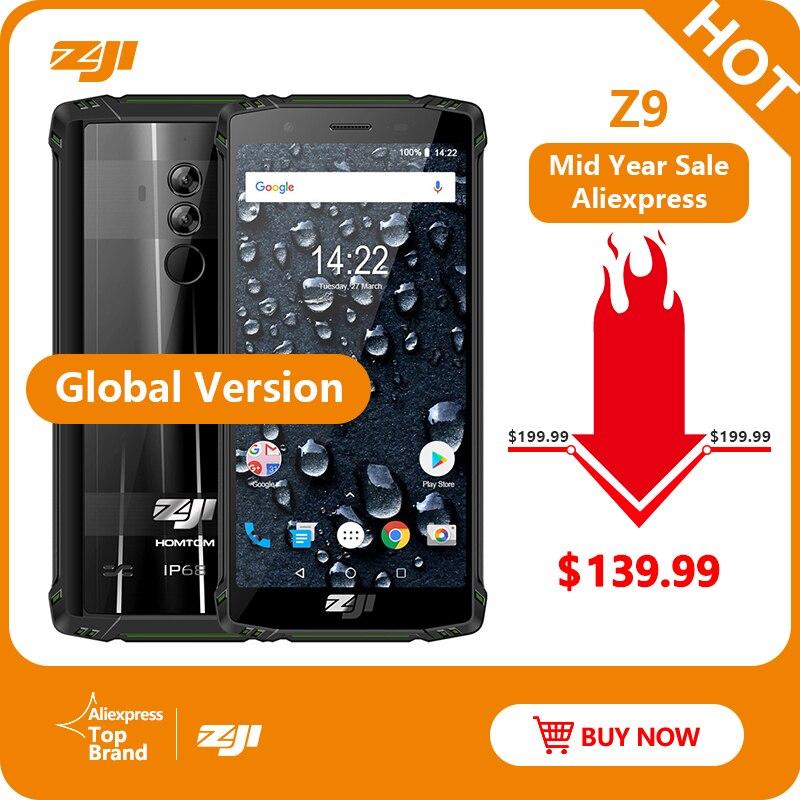 ZJI ZOJI Z9 IP68 étanche Smartphone Octa Core 5.7 pouces 6 GB RAM 64 GB ROM 5500 mAh B20 4G FDD LTE B20 bandes complètes téléphone Mobile
