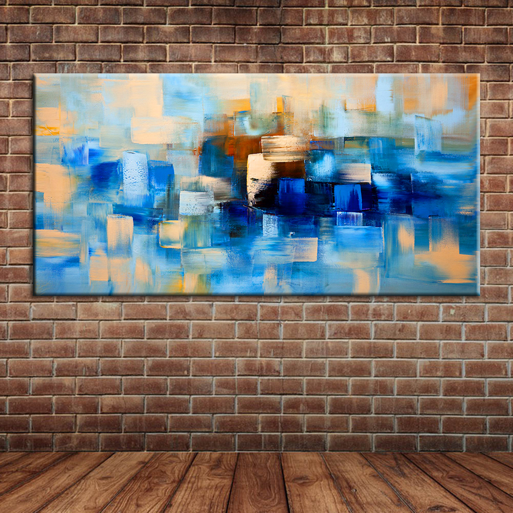 online get cheap painting wall mural aliexpress com alibaba group modern abstract blue oil painting canvas art kitchen canvas knife paintings wall mural poster decor