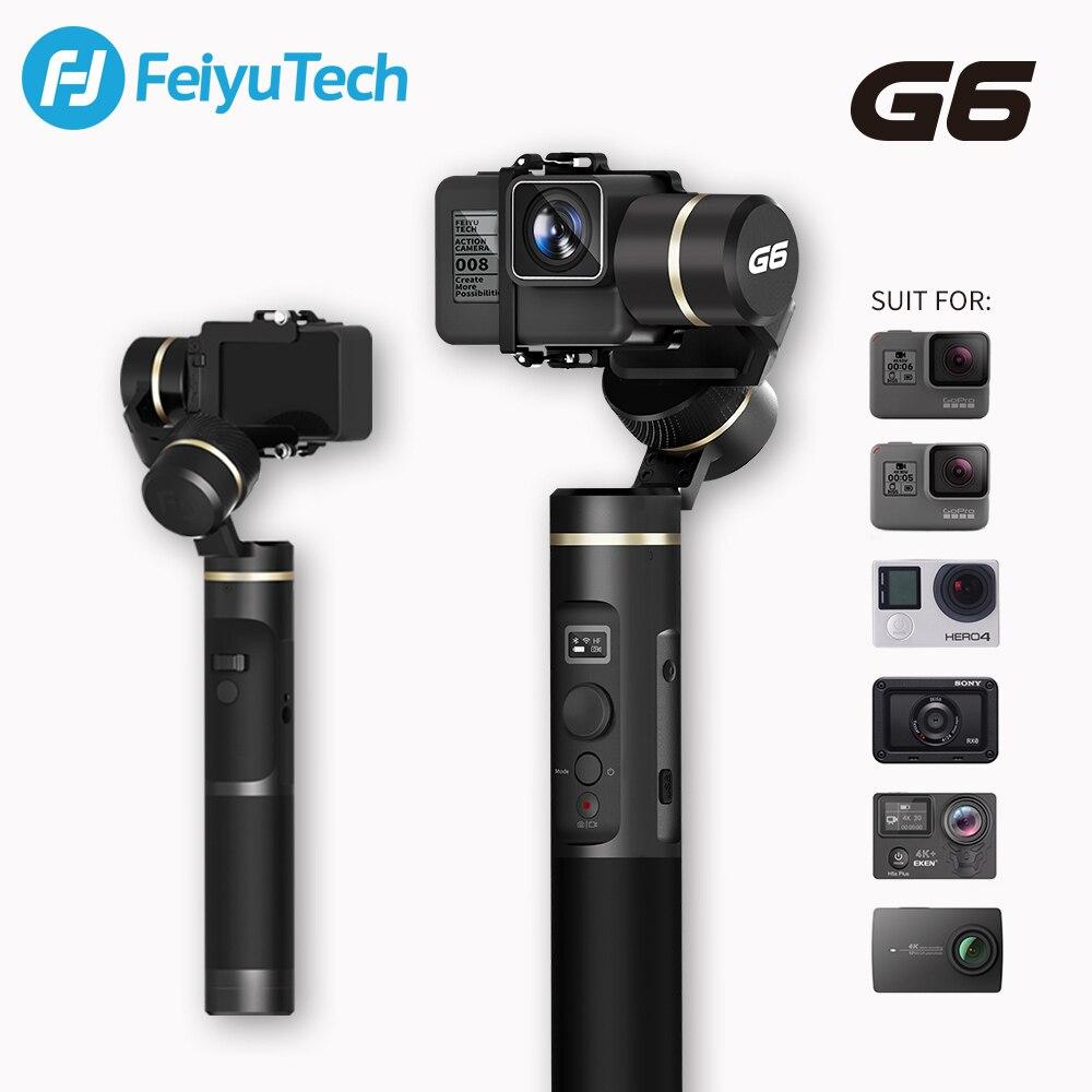 FeiyuTech G6 stabilisateur de cardan à main étanche aux éclaboussures Wifi Bluetooth OLED écran pour Gopro Hero 7 6 5 Sony RX0 Yi