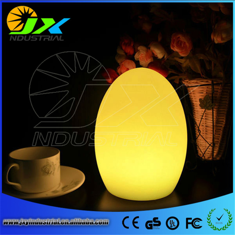 Led remote control colorful eggs rechargeable bar table lamp KTV night club light dimming color LED night light free shipping color change remote control led animal shape night light