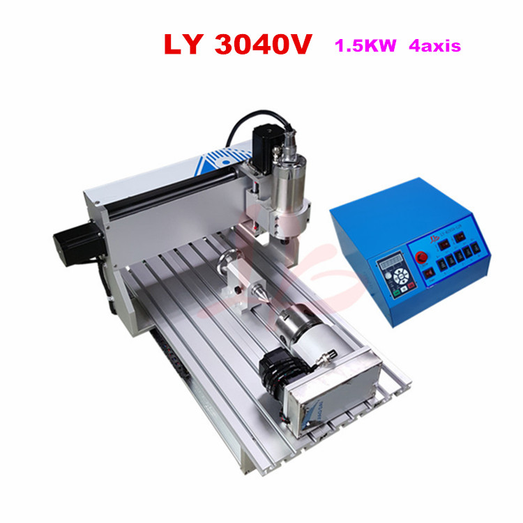 3040V CNC router 1500W power woodworking CNC 4 axis spindle metal machine