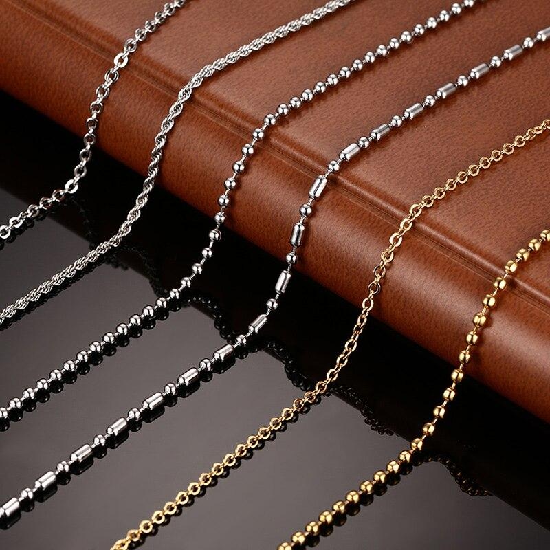 Vnox DIY цепи Цепочки и ожерелья Нержавеющая сталь Для женщин Для мужчин изделия змея круглый Бусины и бисер для Кулон Интимные аксессуары