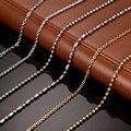 Vnox promoção diy cadeia colar de aço inoxidável mulheres homens jóias cobra rodada contas correntes para pingente acessórios