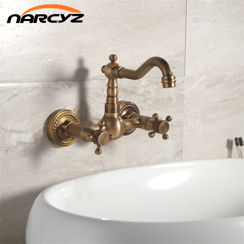 Bathroom basin kitchen sink mixer tap swivel Antique Bronze fashion style wall mounted faucet  AF1043 футболка puledro kids футболка