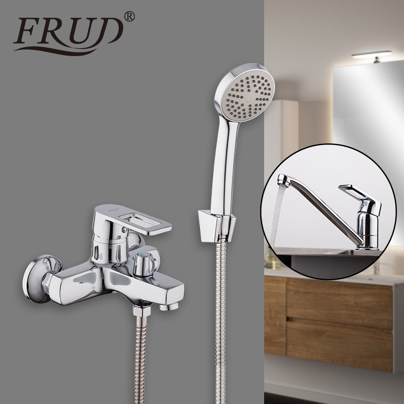 FRUD Bathroom Shower Faucet with Basin Faucet Waterfall bathtub sink mixer taps wall mounted shower faucetFRUD Bathroom Shower Faucet with Basin Faucet Waterfall bathtub sink mixer taps wall mounted shower faucet