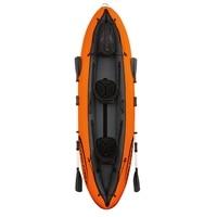 11ft Inflatable 2 Person Luxury Venture Kayak Fishing Double Paddle Floating Boat Sit in Sea Kayak Fun Air Raft