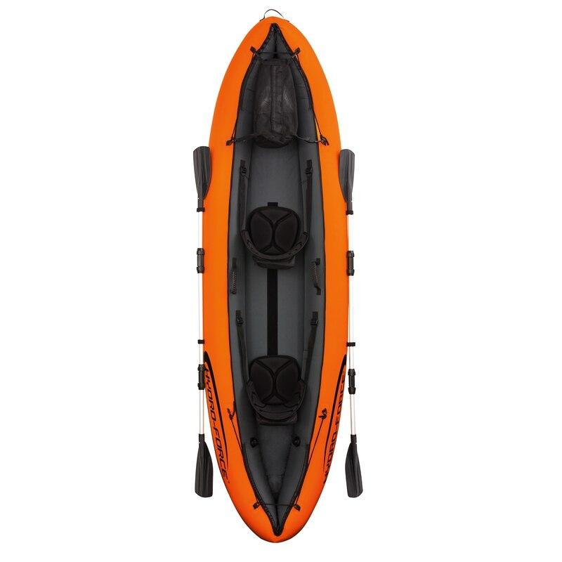 11ft Gonflable 2-personne Entreprise De Luxe Kayak De Pêche Flottant Bateau Piscine Flotteurs Lit D'eau Jouets Piscine Fun Radeau