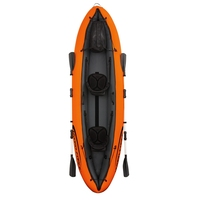 11ft Inflatable 2 Person Luxury Venture Kayak Fishing Double Paddle Floating Boat Sit in Sea Kayak Fun Air Raft|Rowing Boats| |  -