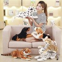 1 st 45 cm Simulatie Hond/Tijger/luipaard Knuffels Pop Liggen Hurken Houding Echt Goede Kwaliteit Levensechte echte Hond Kid's gift