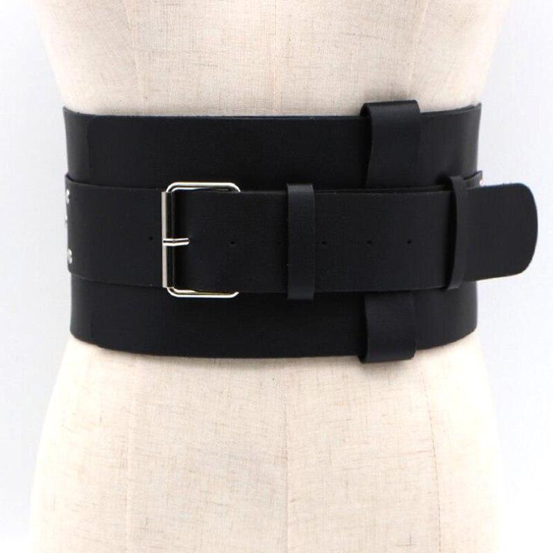 Wide Waist Elasticated Lady Girl Fashion Sequin Buckle Belt Belts Elastic CatWal