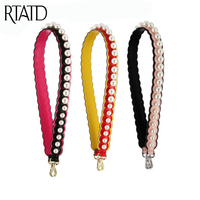 RTATD Leather Jelly Design Women Bags Strap Long Gold Silver Buckle Handle for Handbags Easy Matching Bags Belts J008