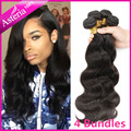 "Asteria Hair Brazilian Virgin hair body wave 7A Top Quality Human Hair Extensions  8-40"" 4 Bundles Brazilian Human Hair Weave"