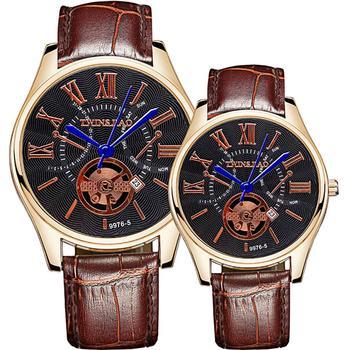 66b5a6548dec Los hombres y las mujeres relojes Unisex correa de cuero números romanos  amante reloj de cuarzo reloj de pulsera par regalo de reloj hombres reloj