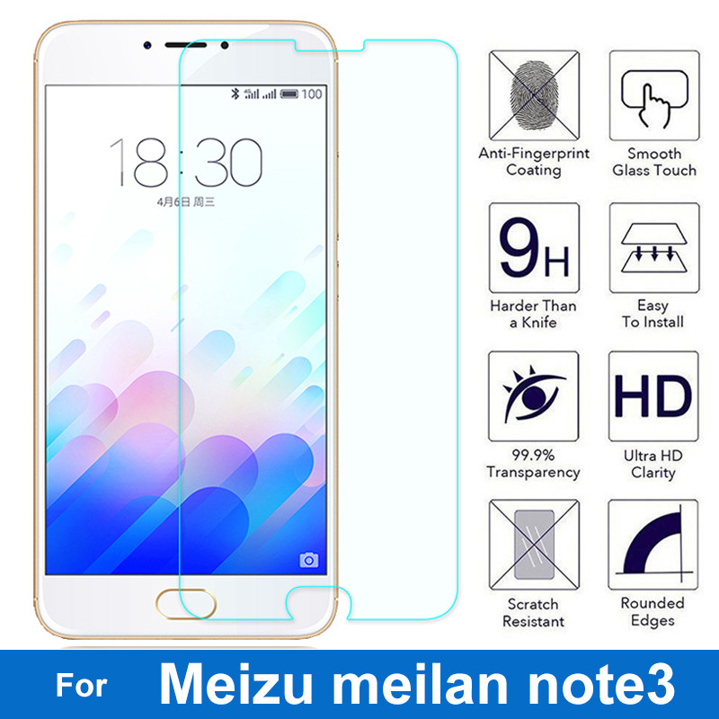 For Meizu Meilan Note 3 Tempered Glass Screen Protector 0.26MM 9H 2.5D Safety Protective Film On Meizu M3 Note Meilan Note3