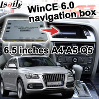 GPS Navigation Box Video Interface For 2009 2016 Audi Q5 S5 6 5 Inches Display Touch