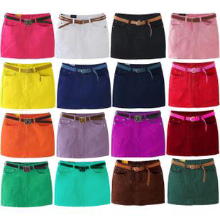 0bf234f75d59a0 2014 Short skirt white a slim hip skirt cotton autumn purple denim skirt