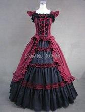 Victorian Corset Gothic/Civil War Southern Belle Ball Gown Dress Halloween dresses  US 4-16 V-804