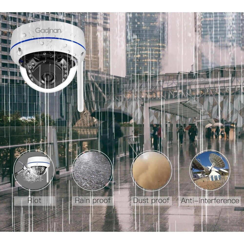 Gadinan WiFi Camera Wireless IP Camera 2MP 1080P 1MP Dome Night Vision Vandalproof Audio Record Max 128G TF Card Slot Yoosee