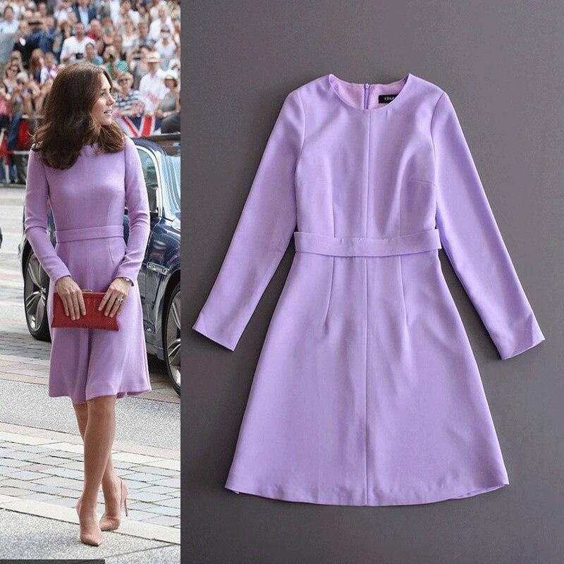Kate Middleton's Long Sleeve Lavender Dress