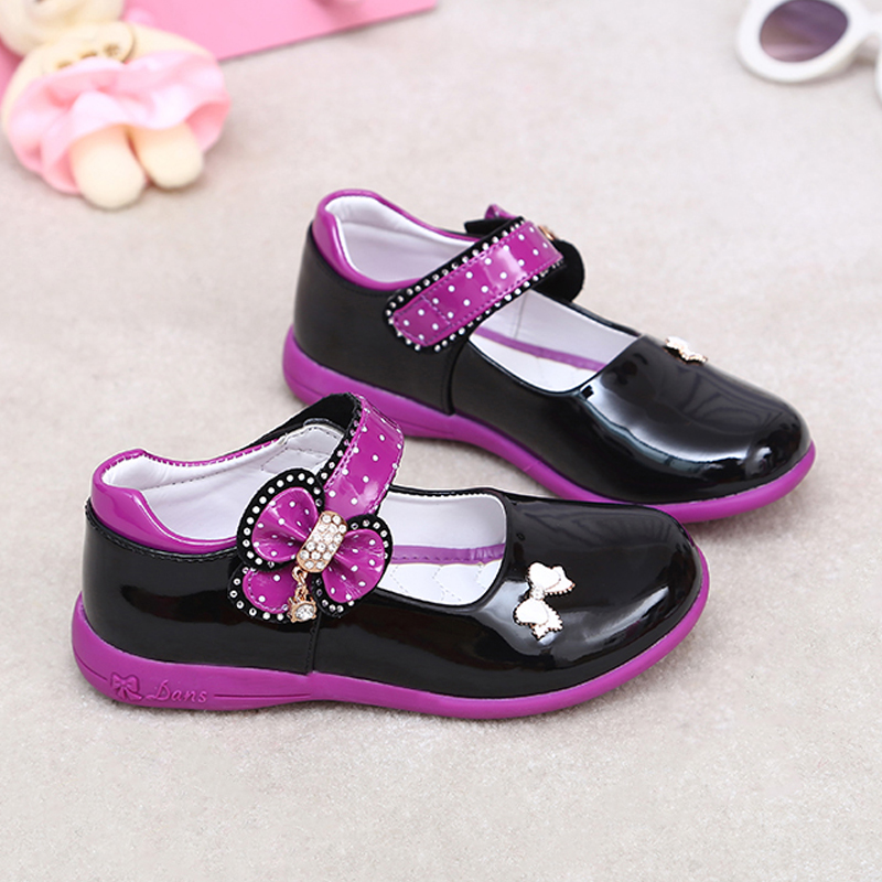 Pdep pretty platform white pu leather shoes flower girl for Girls dress shoes for wedding